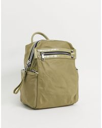 ASOS Backpack With Chunky Zip And Croc Detail - Green