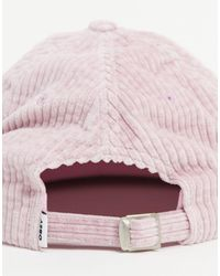Obey Розовая Вельветовая Кепка С Логотипом И Ремешком Сзади -розовый Цвет