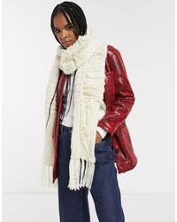 TOPSHOP Knitted Scarf With Tassels - Multicolour