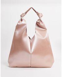 ASOS Розовая Сумка-тоут С Покрытием - Розовый