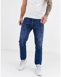 DIESEL – Mharky-SP – Doodle-Jeans im Stil der 90er Jahre - Blau