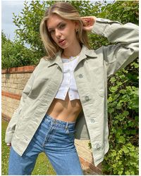TOPSHOP Lightweight Jacket With Clean Pockets - Green