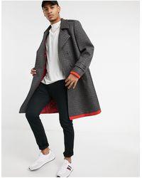Tommy Hilfiger Двубортное Пальто Collections-серый