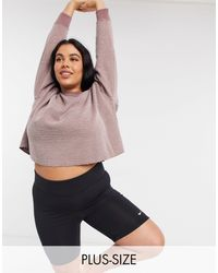 Nike Розовый Броский Свитшот Nike Yoga Plus - Многоцветный