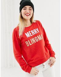 ONLY Merry Blingmas - Kerst-sweatshirt - Rood