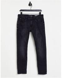 Tom Tailor Andean - jean droit en denim - délavé - Noir