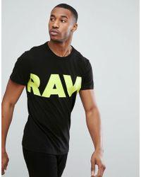 G-Star RAW - Vilsi Neon Logo T-shirt - Lyst