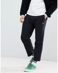 Champion - Joggers With Centre Seam In Black - Lyst