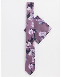 Twisted Tailor Комплект С Галстуком Нюдового Цвета С Принтом -розовый - Пурпурный