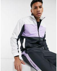 Jack & Jones Intelligence Tracksuit With Zip Through Jacket - Purple