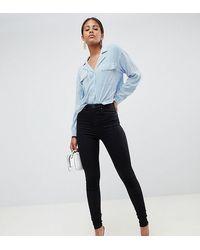 ASOS ASOS DESIGN Tall – SCULPT ME – Hochwertige Jeans mit hoher Taille - Schwarz
