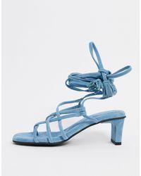 Vero Moda Chaussures à talons avec brides - Bleu