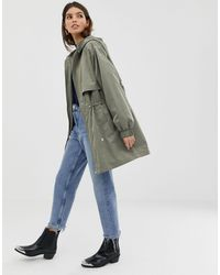 ASOS Lightweight Parka With Jersey Lining - Green