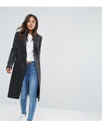 ASOS | Slim Coat With Pocket Detail In Texture | Lyst