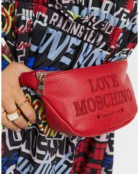 Love Moschino Красная Сумка-кошелек На Пояс Essential-красный