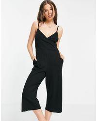 Brave Soul Iris Cami Strap Jumpsuit - Black