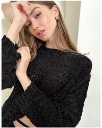 Threadbare Bianca - maglione oversize lavorato - Nero