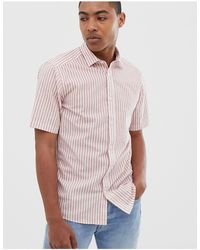 Only & Sons Short Sleeve Stripe Shirt - Pink