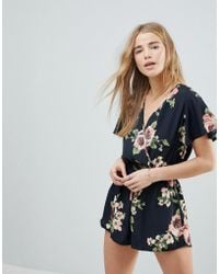 Band Of Gypsies - Large Floral Romper - Lyst