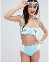 Lazy Oaf - Daisy Bikini Top - Lyst