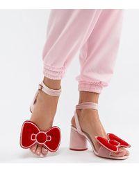 61ab3c9a5f40 Public Desire Kitty Block Heeled Sandals in Black - Lyst