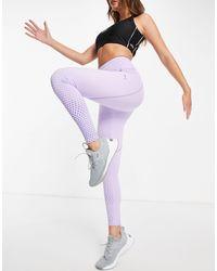 PUMA - Фиолетовые Леггинсы Длиной 7/8 С Завышенной Талией Running Digital-фиолетовый Цвет - Lyst