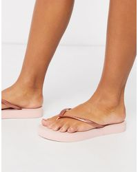 Havaianas Flatform Flip Flop - Metallic