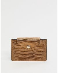 & Other Stories Leather Card Holder - Brown