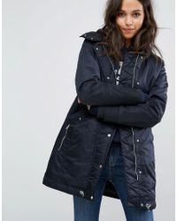 Abercrombie & Fitch - Luxe Nylon Parka - Lyst