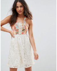 Maaji - Floral Abstract Print Beach Dress - Lyst