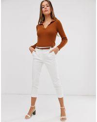 Oasis Pantalones capri - Blanco