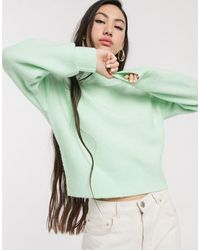 & Other Stories Pull col montant - pastel - Vert