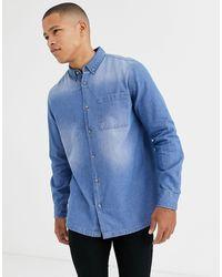 Burton Shirt In Denim - Blue