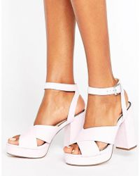 Miss Selfridge | Platform Heeled Sandal | Lyst