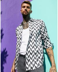 ASOS - Satin Regular Shirt - Lyst