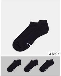 ASOS 4505 Run Trainer Socks With Anti Bacterial Finish 3 Pack - Black