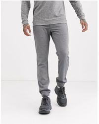 Only & Sons Slim Tapered Fit Cuffed Bottom Trousers - Grey