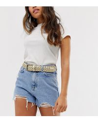 Glamorous Exclusive Gold Woven Waist And Hip Jeans Belt - Metallic