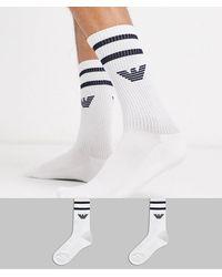 Emporio Armani – e Sportsocken mit Logo, 2er-Pack - Weiß