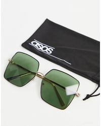 ASOS Oversized 70s Sunglasses With G15 Lens - Black