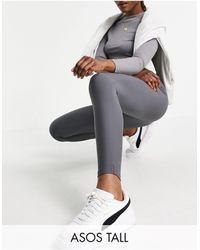 ASOS Asos Design Tall legging With High Waist - Grey