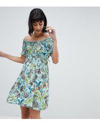 Anna Sui - Exclusive Babydoll Dress In Pineapple Print - Lyst