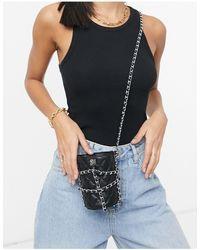 Steve Madden Bkristen Quilted Chain Bucket Bag - Black