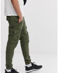 Jack & Jones Cuffed Cargo Trouser In Green
