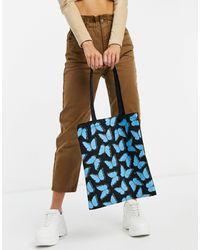 Skinnydip London Canvas Tote Bag - Blue