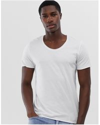 SELECTED Scoop Neck Top - White