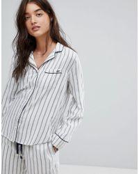 Abercrombie & Fitch Stripe Pajama Top - Multicolor
