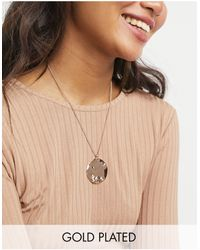 Pilgrim Rose Gold-plated Necklace With Rustic Shape Pendant-pink