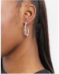 Nylon Boucles d'oreilles martelées - Métallisé