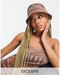 Juicy Couture X asos - cappello da pescatore color cuoio - Marrone